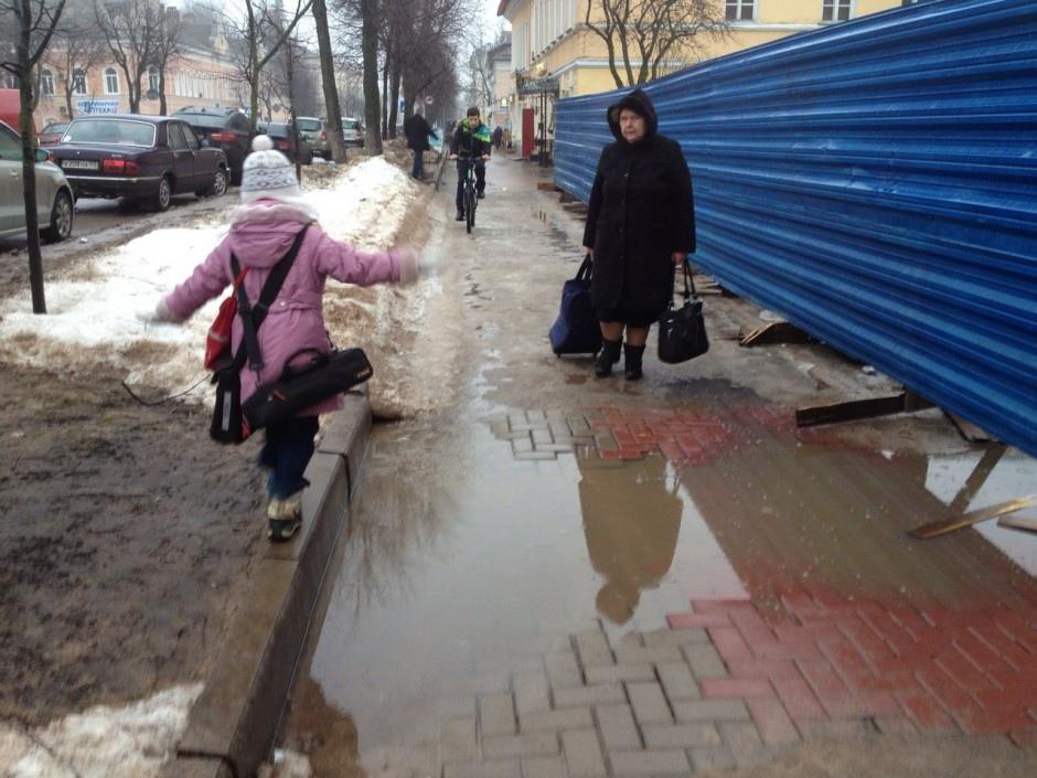 Тротуар на Большой Московской