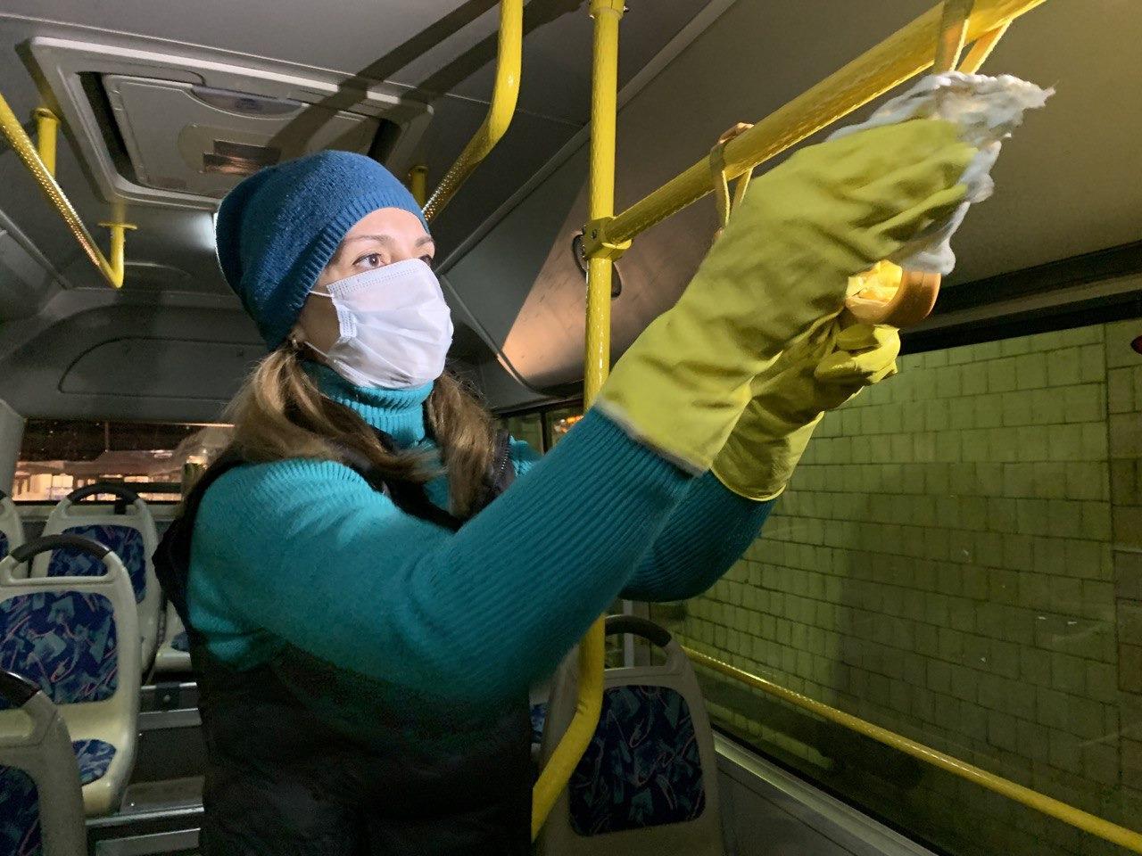 Дезинфекция городских автобусов