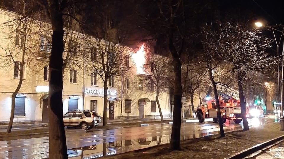 Пожар в Великом Новгороде