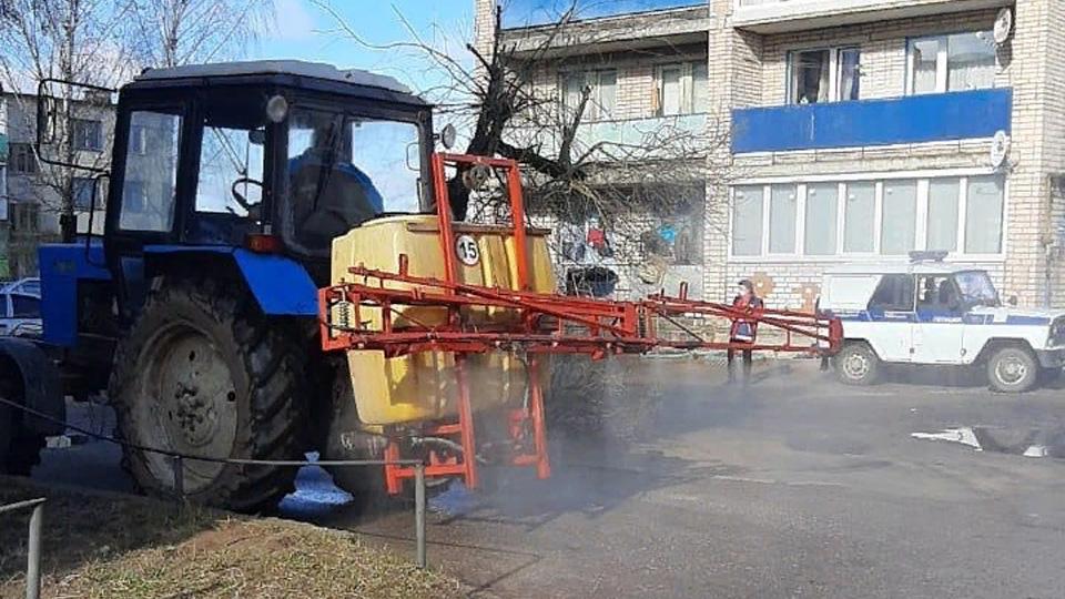 Санитарная обработка в Новгородском районе