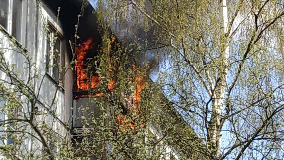 Пожар на Лёни Голикова