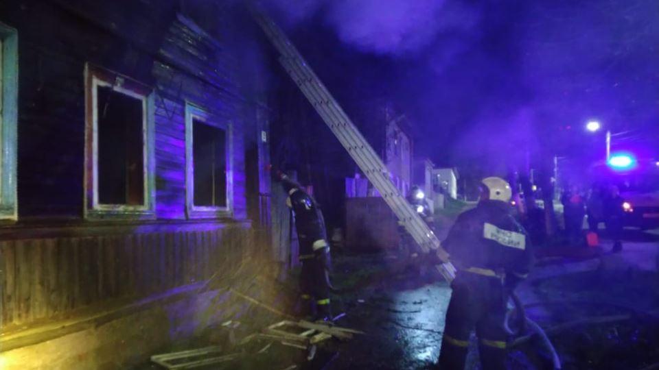 Пожар в Валдае