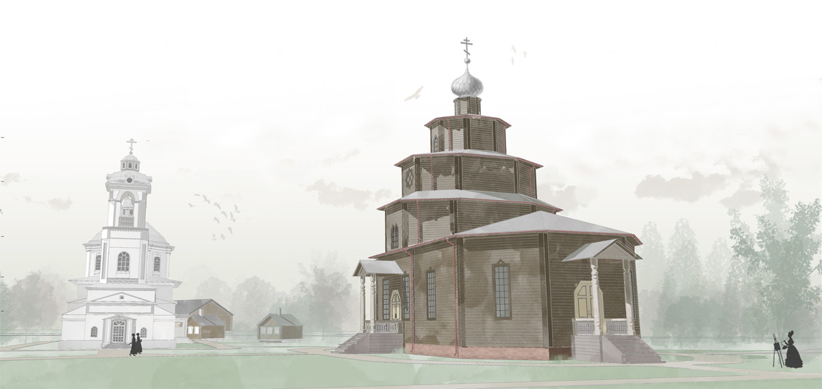 Церковь в деревне Сопины