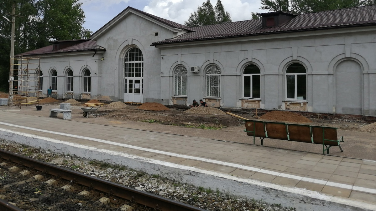 Ремонт вокзала в Сольцах