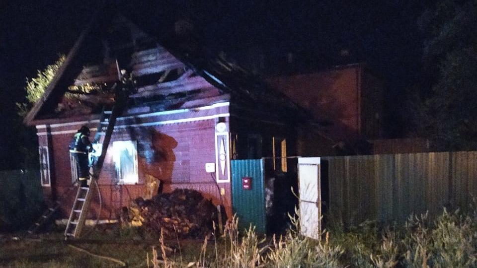 Пожар в Боровичах