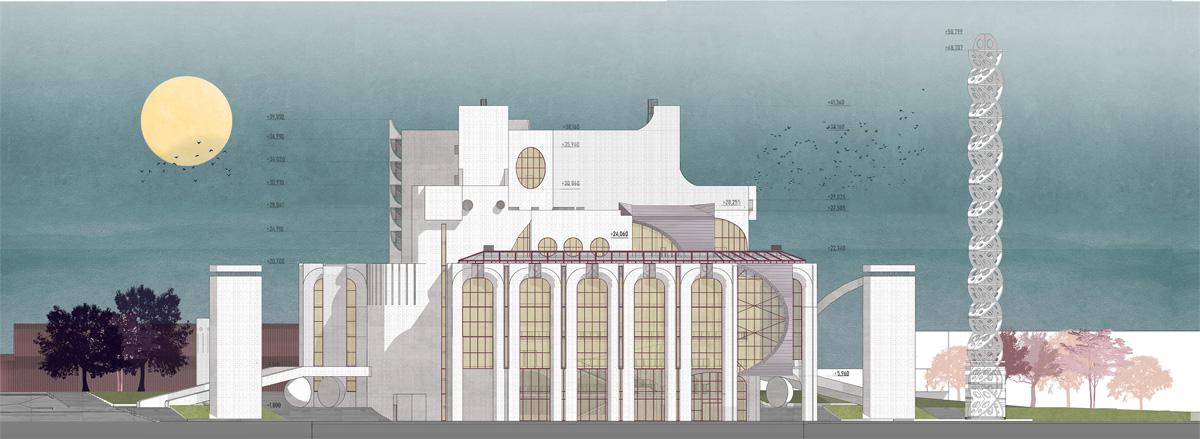 Фасад. Реконструкция театра драмы