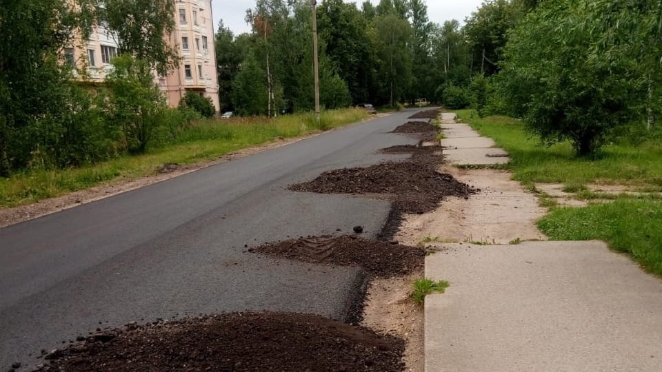 Ремонт дорог в Кречевицах