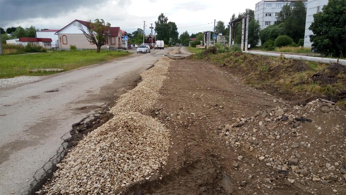 Ремонт дорог в Сырково