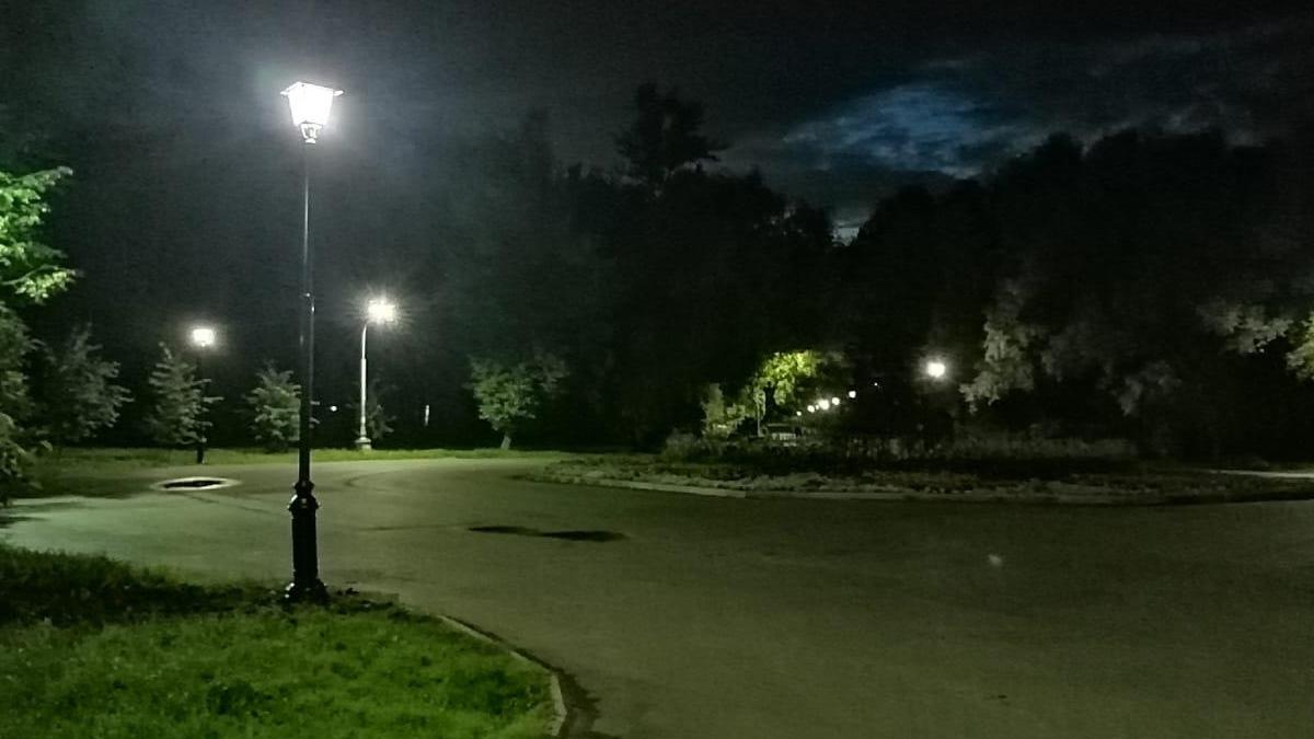 Новые фонари в парке «30 лет Октября»