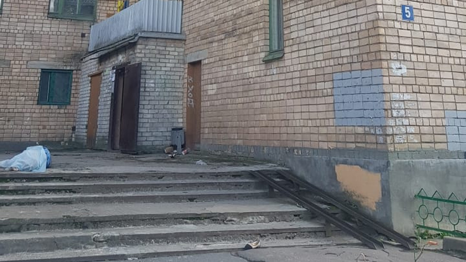 Место происшествия на улице Саши Устинова