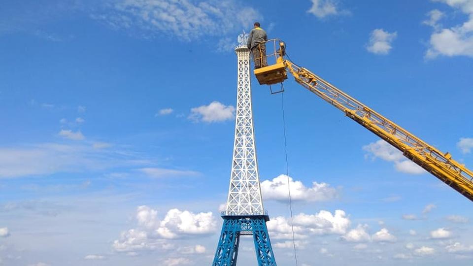 Восстановление башни в Валдае