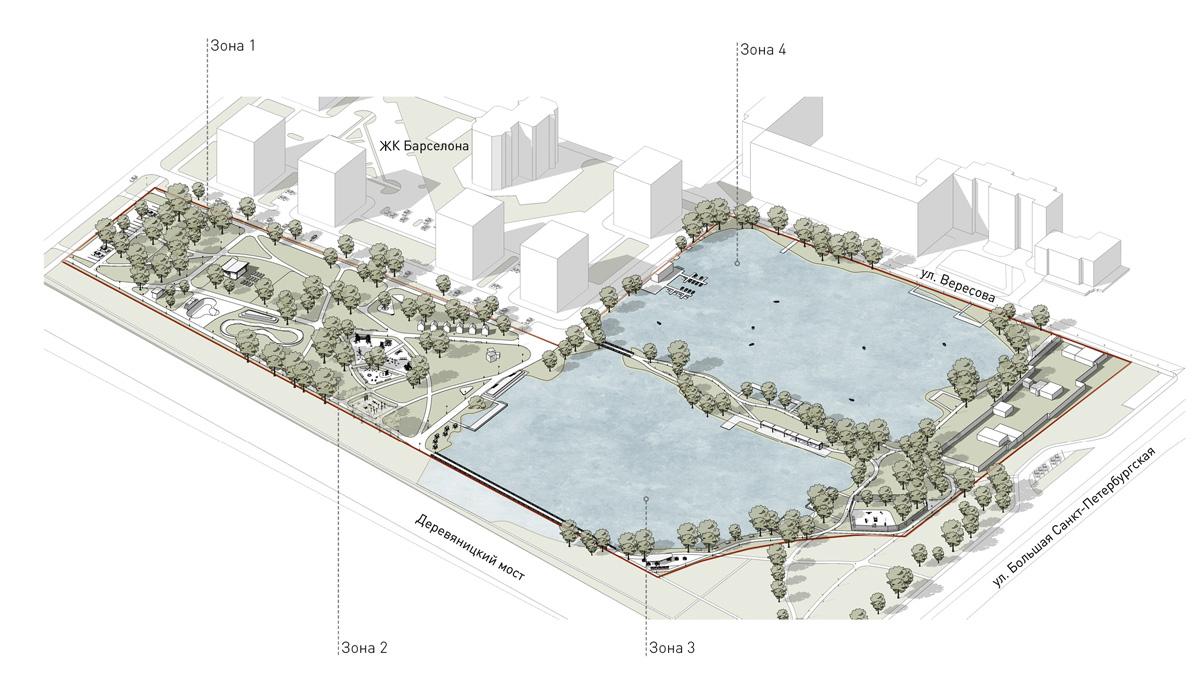 Концепция парка на улице Вересова