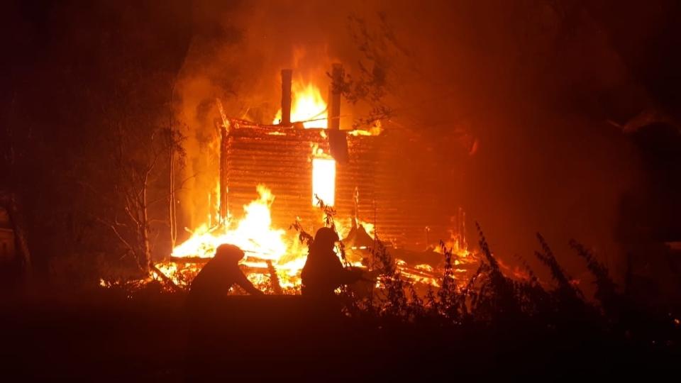 Пожар в Угловке