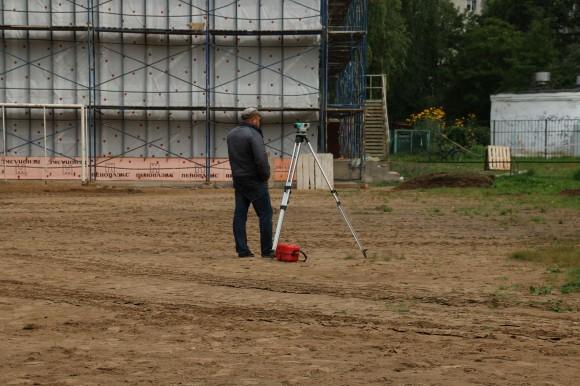 Восстановление школьного футбольного поля