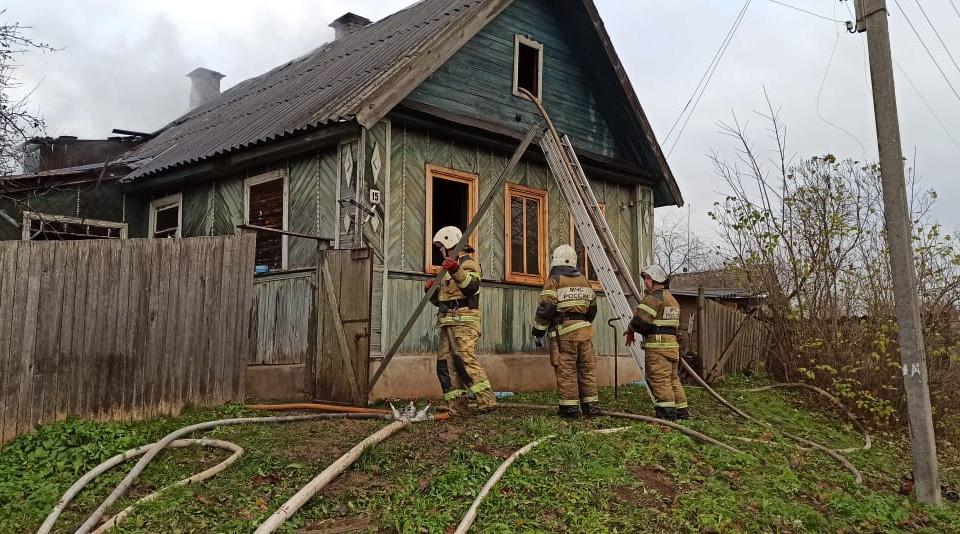 Пожар в Сольцах