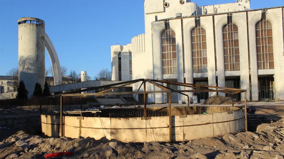 Строительство сухого фонтана