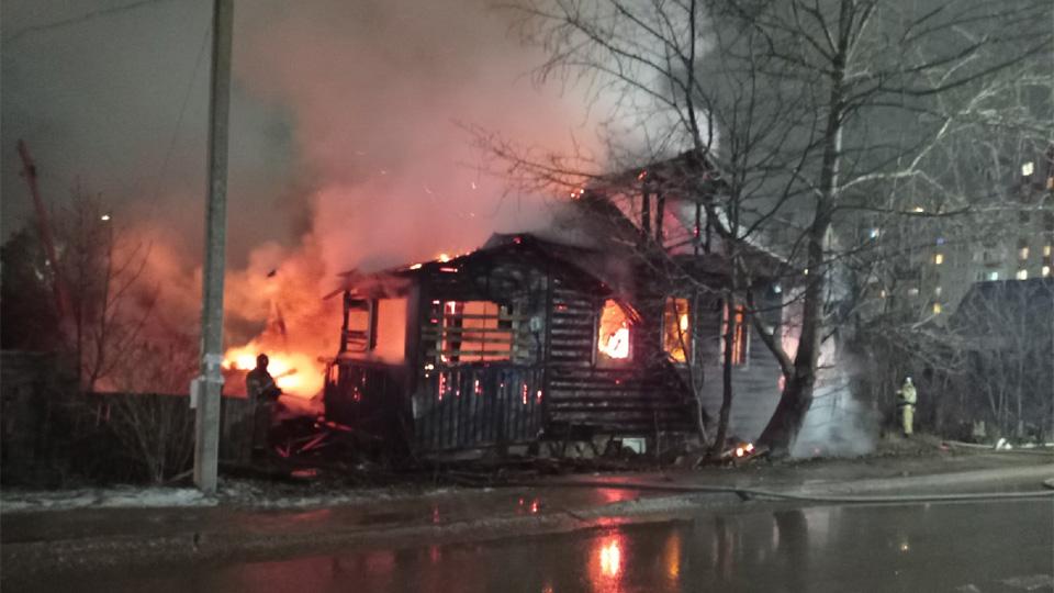 Пожар на Зелёной улице