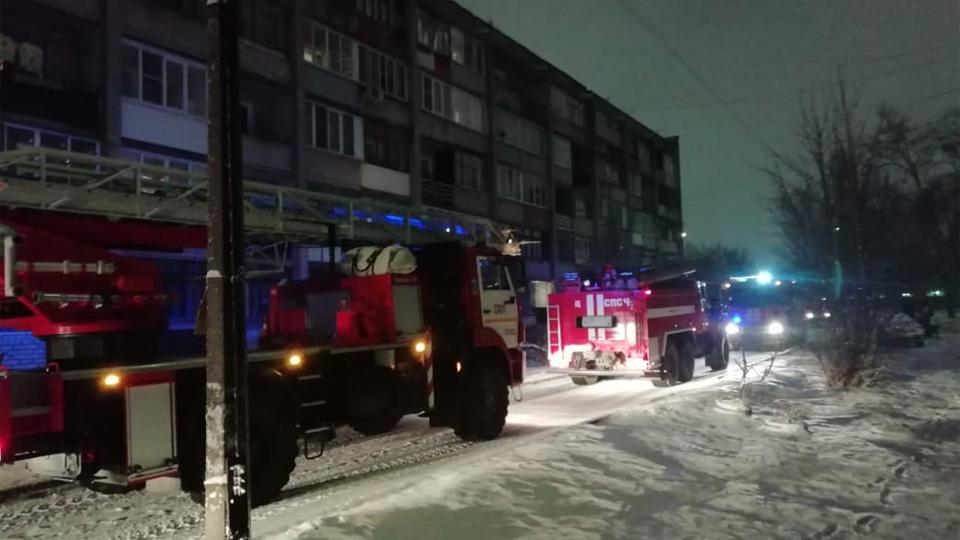 Пожар на улице Ломоносова
