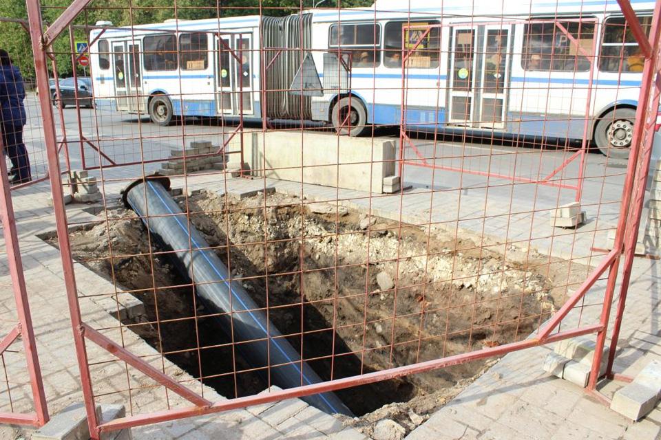 Замена труб ливневой канализации