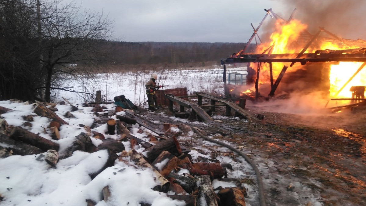 Пожар в Пестовском районе