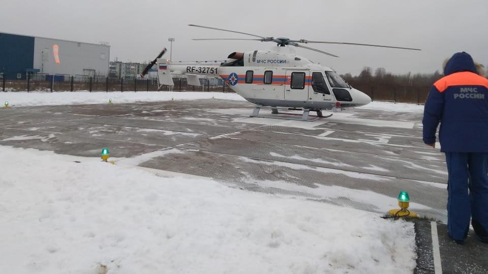 Вертолёт в Валдае