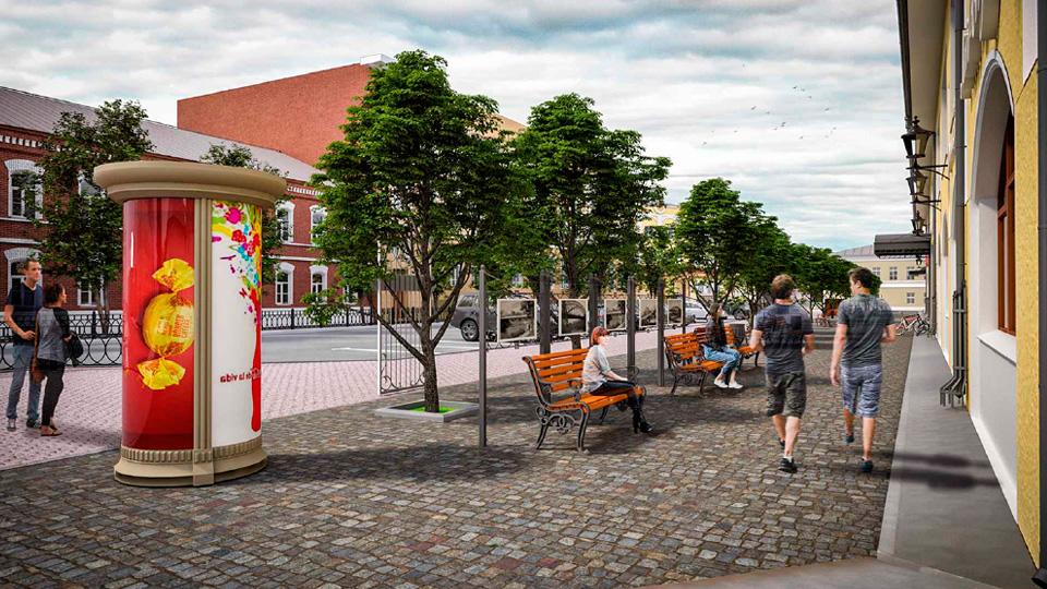 Екатерининская площадь в Боровичах