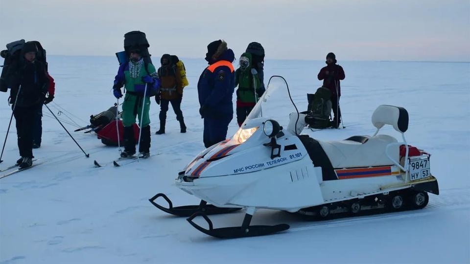 Участники лыжного перехода через Ильмень