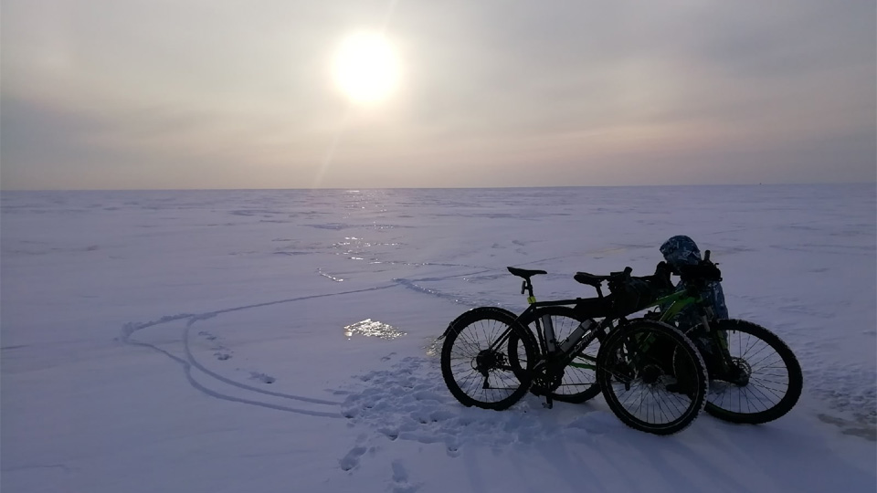 На велосипедах через Ильмень
