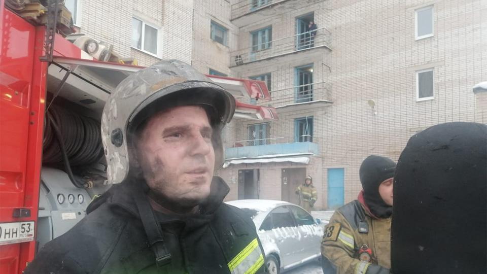 Пожар на улице Щусева