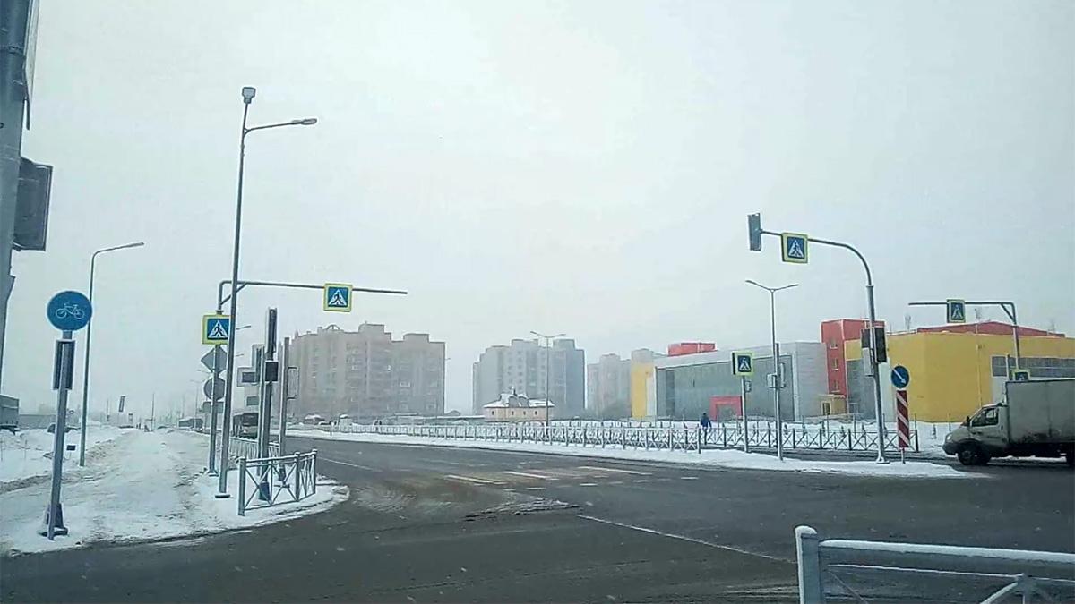Перекрёсток улиц Псковской и Луговой