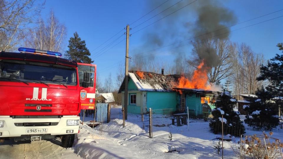 Пожар в Гребне