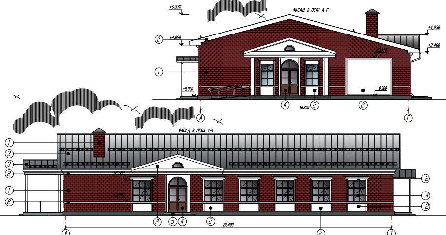 Фасады дома культуры