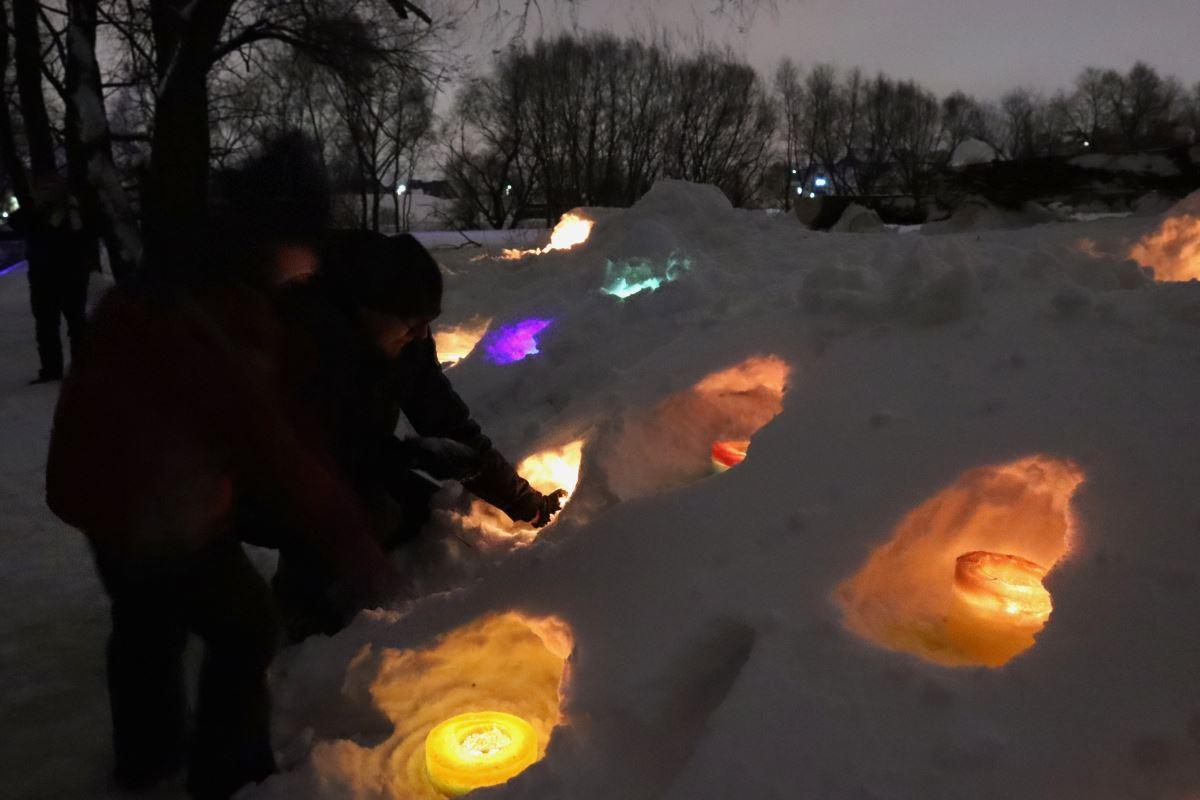 Флешмоб «Ледяная свеча»