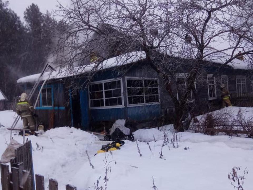 Пожар в Хвойнинском районе