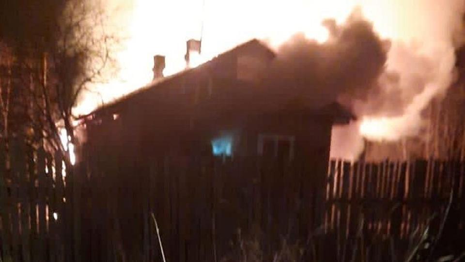 Пожар в Крестцах