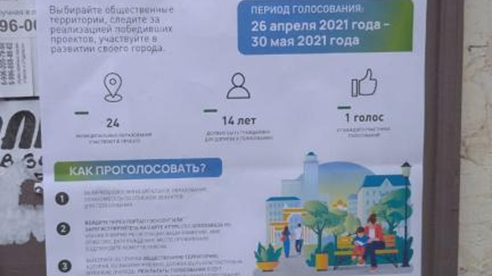 Информационный плакат о рейтинговом голосовании