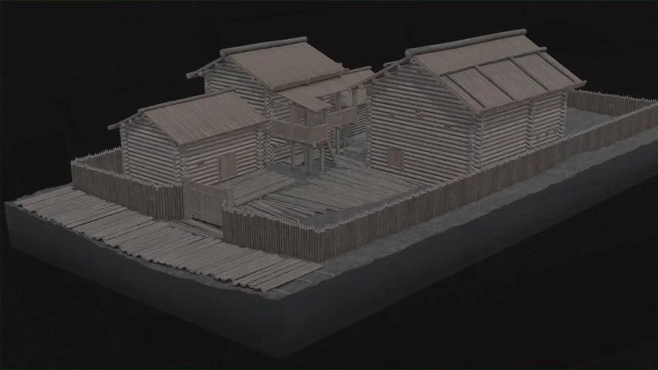 Трёхмерная реконструкция новгородской усадьбы