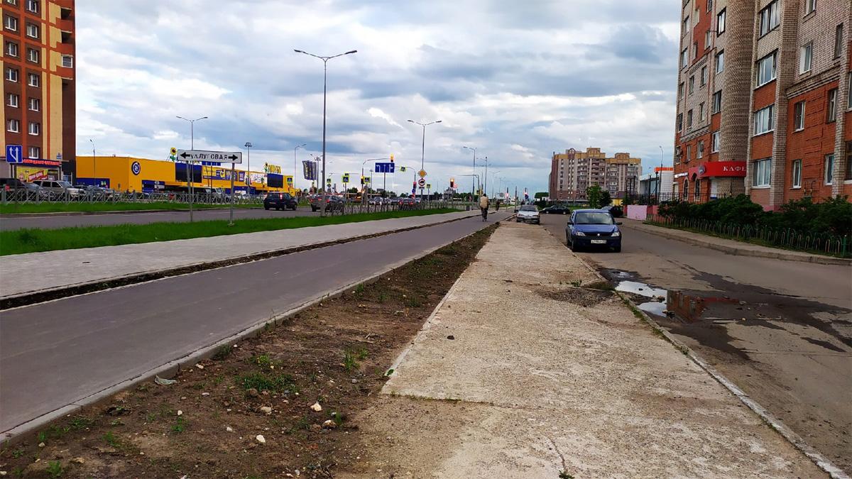 Старый тротуар на Псковской