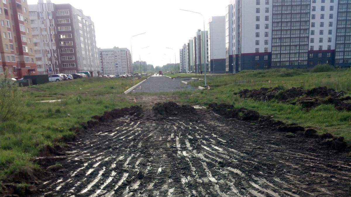 Устройство строительной дороги