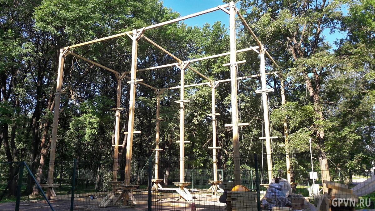 Строительство верёвочного парка