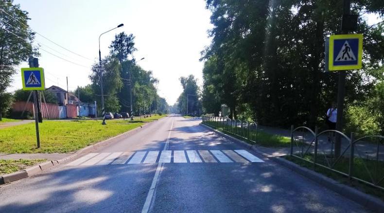 Место ДТП в Сольцах