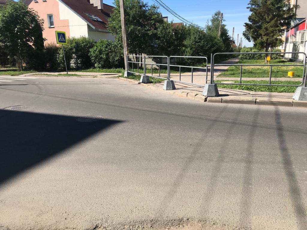Переход и забор на Озёрной