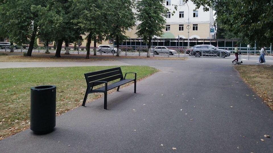 Новые скамейки