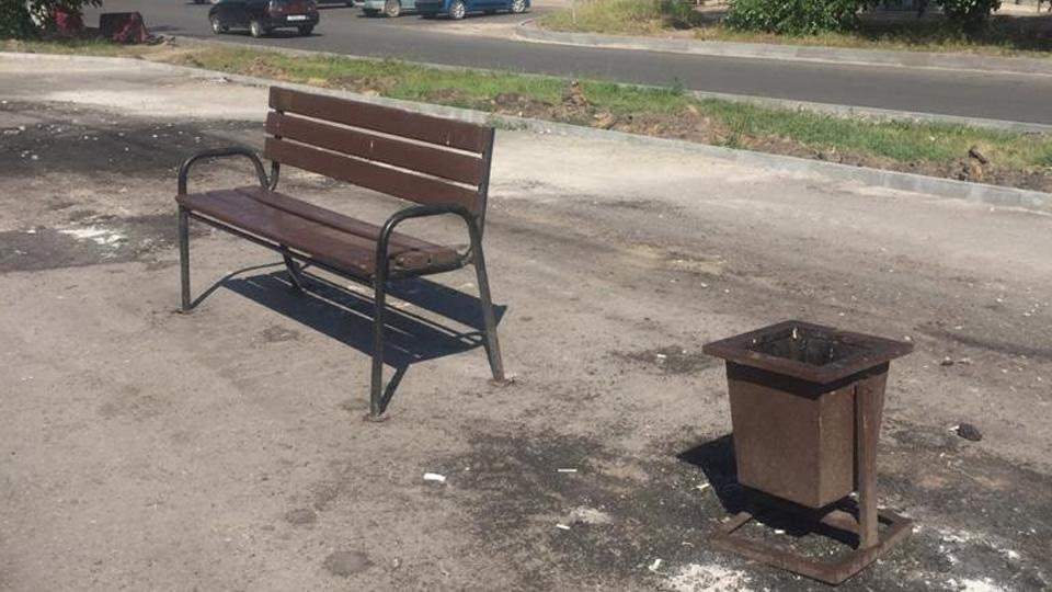 Временные скамейки