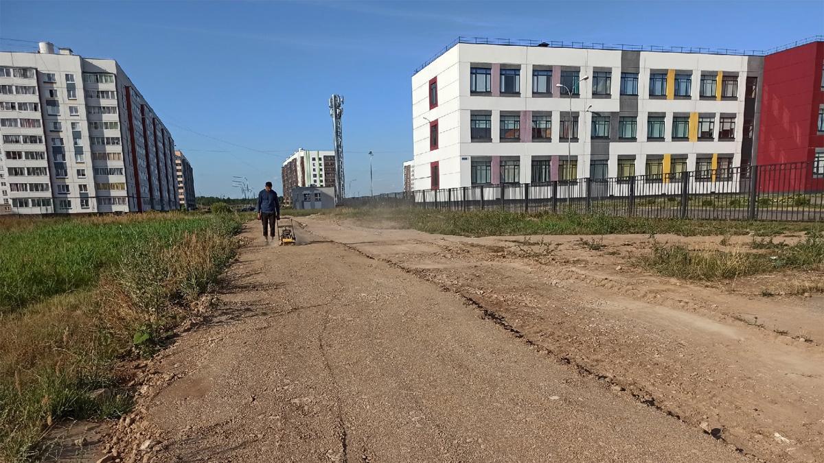 Дорожка вдоль школы