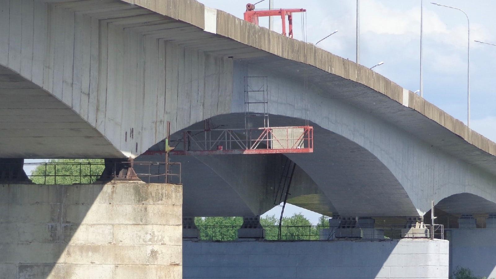 Покраска моста