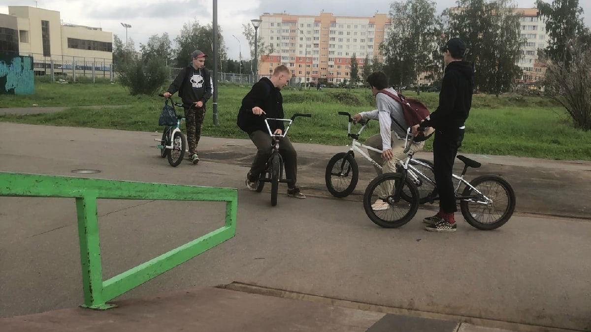 Скейтпарк в парке Юности