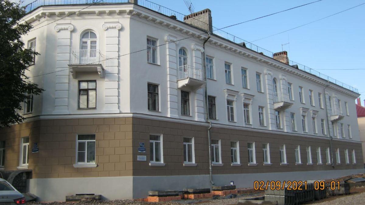 Отремонтированный фасад