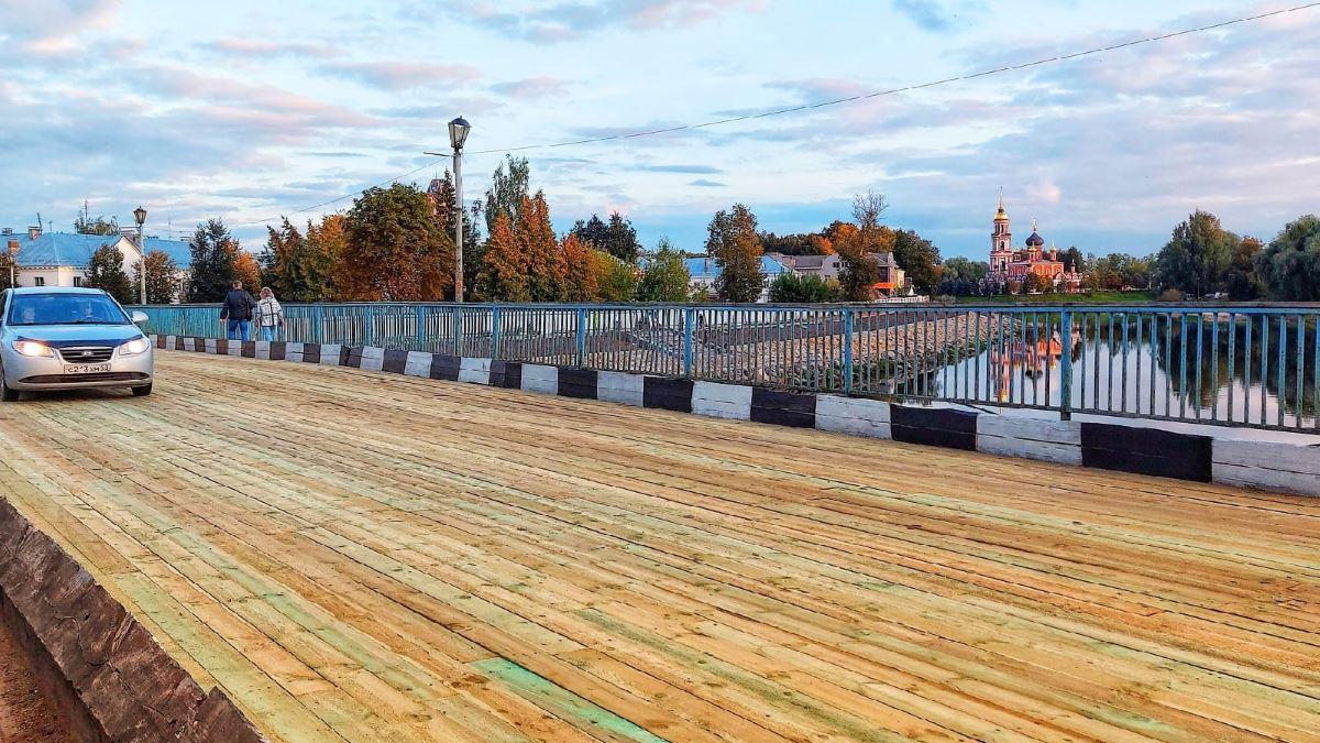 Живой мост в Старой Руссе