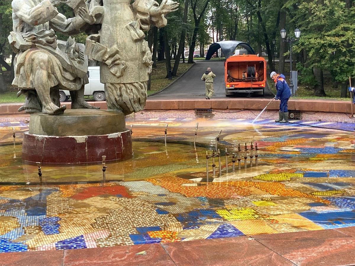 Уборка фонтана